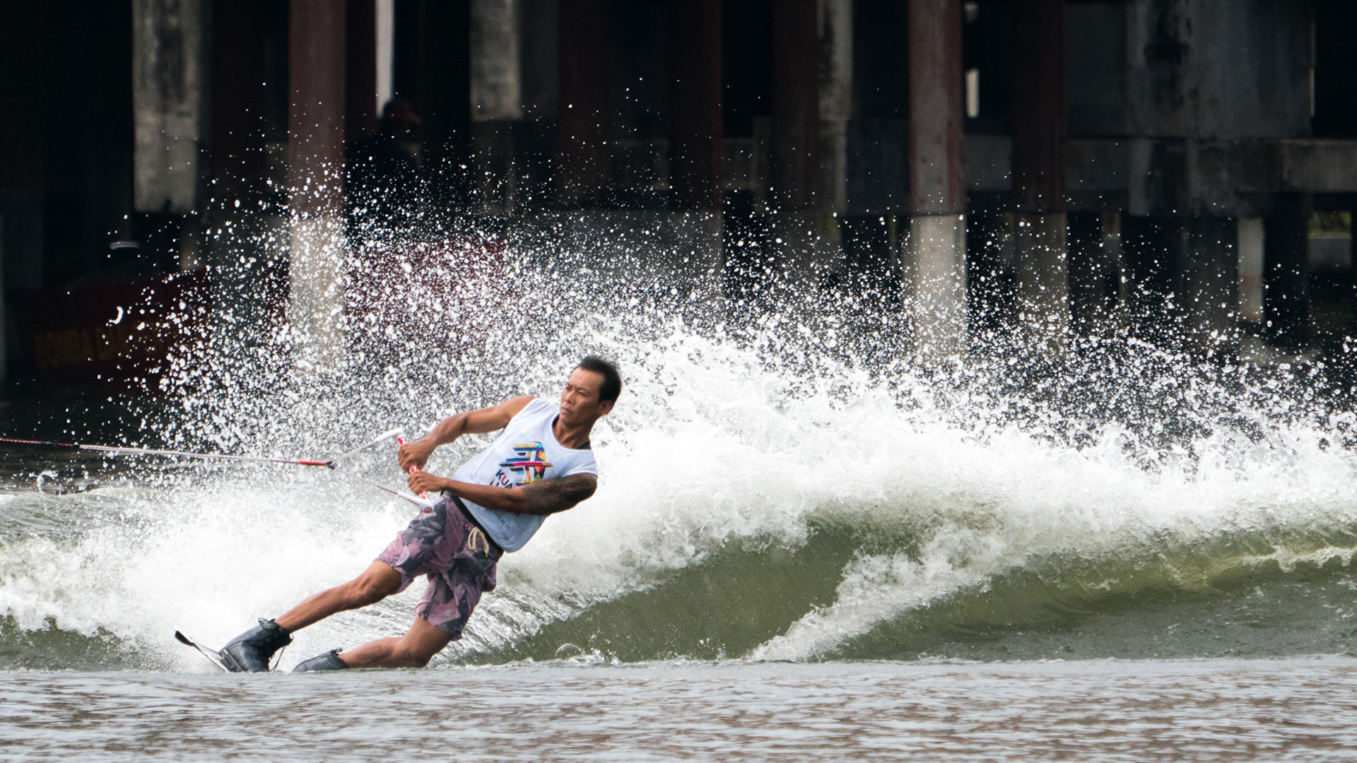 Frankie wakeboarding