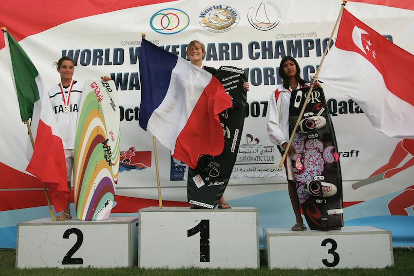 Doha Worlds Girls Podium